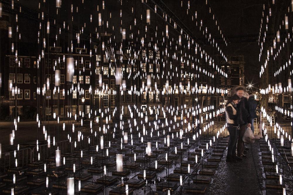 Alley of Light - Amsterdam Light Festival 2014-2015 Serge Schoemaker Architects