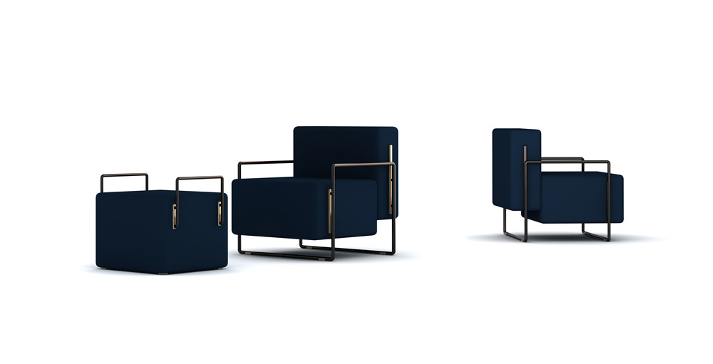 Frank Chou Design Studio_Frank Chou_Suit Lounge Chair & Stool_Hall E2-98