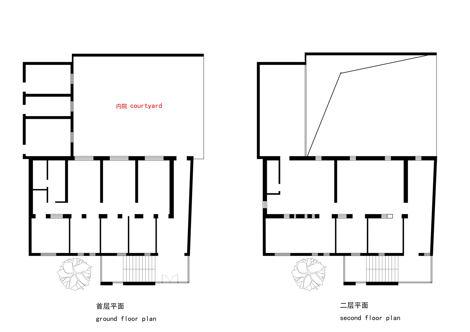 plans before renovation