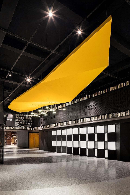 004-Cinema-of-Vitality-in-Yellow-Origami-Baichuan-International-Cinema-By-UM-DESIGN-960x1440