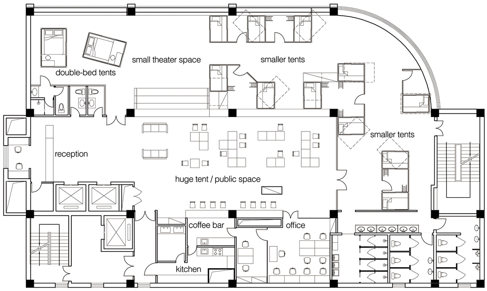 3-Together-Hostel-indoor-camping-space-for-youth-By-Jacobsen-Arquitetura