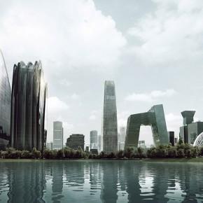 充满中国传统山水意境的朝阳公园广场项目