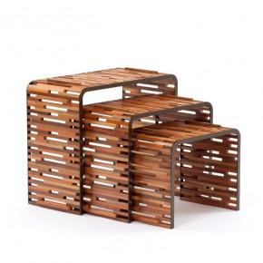 """设计师的""""恻隐之心""""成就了这些木条桌"""