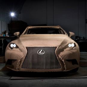 雷克萨斯用纸板造了一辆车
