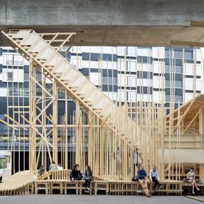 DesignLAB:200名大学生搭建的临时空间装置