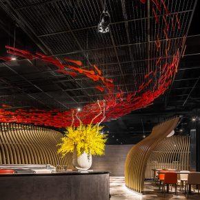 鸟巢、麦浪、鱼群,一个仿佛置身于大自然的餐厅