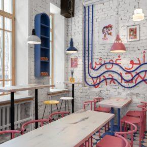 俏皮又复古,来这家街头美食概念餐厅品最正宗的以色列美食