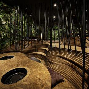 在森林和洞穴中吃烤肉,这家日式餐厅给你全身心的感官体验