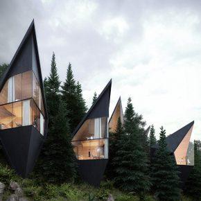 这个在意大利白云岩的可持续树屋,竟是35平米的小复式!
