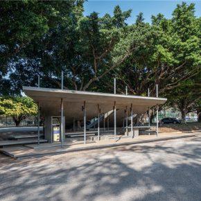 竹工凡木设计丨轻重之间·层次串构,交通大学南门候车亭