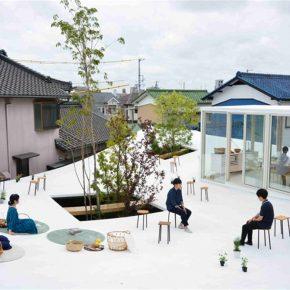 这家日本公司在办公室屋顶上造了一个白色花园