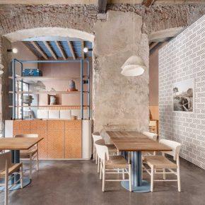 意大利建筑师用最质朴的材料改造了这家开业6年的餐厅