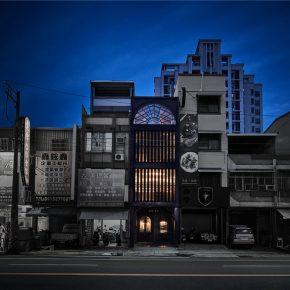 台湾40年的错层老房子,变身奇幻复古餐厅